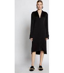 proenza schouler hammered satin long sleeve dress black 6