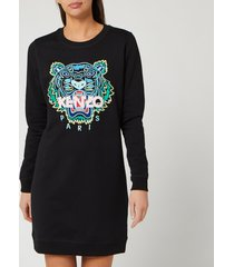 kenzo women's classic tiger sweatshirt dress - black - xs