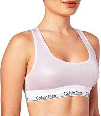 brassieres unlined bralette modern cotton wet look rosa calvin klein