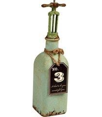 garrafa decorativa de metal envelhecido former