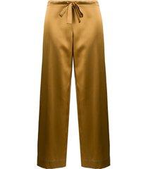 gilda & pearl calça de pijama sophia - dourado