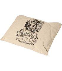 almofada de tecido de linho com enchimento botânica