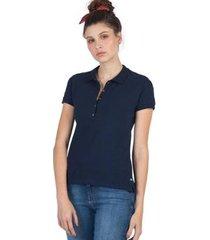 camisa polo básica taco feminina