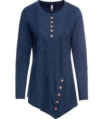 maglia a maniche lunghe con pizzo e bottoni (blu) - rainbow
