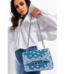 akira real love paisley denim purse