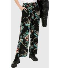 pantalón negro-multicolor paris district