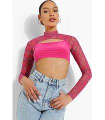 bandana crop top, bright pink