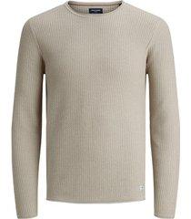 trui jack & jones 12179861 jprblucarlos knit crew neck noos oatmeal/melange