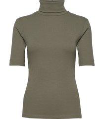 dhzoe rollneck blouse t-shirts & tops knitted t-shirts/tops grön denim hunter