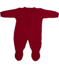 macacão com trança passion tricot.vermelho - kanui