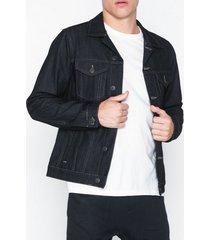 selected homme slhjeppe 6149 raw coat denim jacket jackor mörk blå