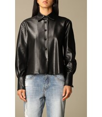 ermanno scervino shirt ermanno scervino shirt in soft synthetic leather