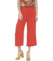 pantalón vero moda culotte annie rojo - calce holgado