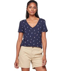 camiseta azul-multicolor gap