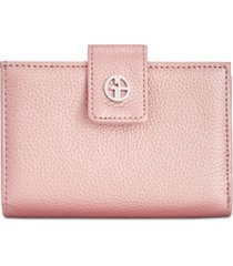 giani bernini framed indexer leather wallet, created for macy's