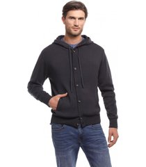cardigan abotonado negro new man