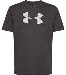ua big logo ss t-shirts short-sleeved svart under armour