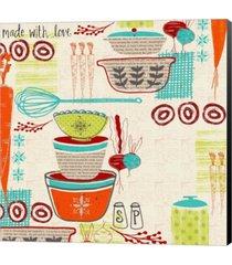 retro kitchen by katie doucette canvas art