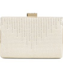 whiting & davis 'diamond drips' evening clutch - ivory