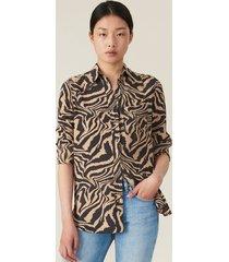 ganni blouse f4164 bruin