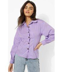 blouse met korset taille en volle mouwen, lilac