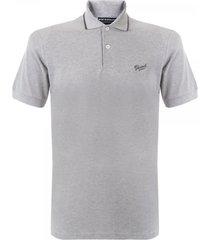 gloverall grey pique polo shirt 3628pc