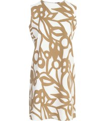 aspesi a line sleeveless dress w/flowers printing