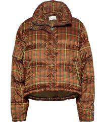tislei print down jacket 20-04 fodrad jacka orange holzweiler