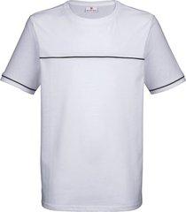 t-shirt boston park vit::marinblå