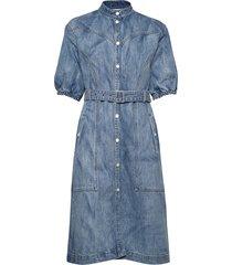dacygz dress ms20 jurk knielengte blauw gestuz