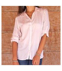 rayon blouse, 'tiara in peach' (indonesia)