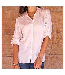 rayon blouse, 'tiara in peach' (indonesia)