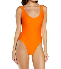 jade swim contour one-piece swimsuit, size x-small in nectar at nordstrom