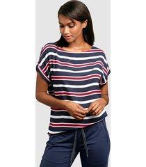 blouse alba moda marine::rood::wit