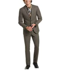 paisley & gray slim fit suit separates coat taupe