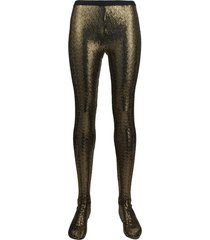 gucci sequin-embellished tights - gold