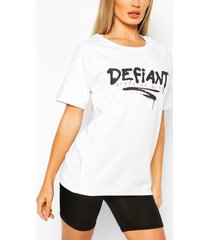 defiant oversized sweat top, white