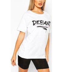 defiant oversized sweat top, white