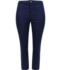 pantalón dril bota recta color azul, talla 24
