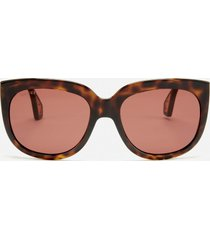 gucci women's injection visor sunglasses - havana/brown