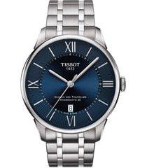 men's tissot t-classic chemin des tourelles powermatic 80 automatic bracelet watch, 42mm