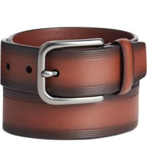 perry ellis men's embossed casual belt