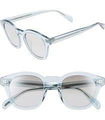 women's oliver peoples boudreau l.a. 48mm square sunglasses - light denim