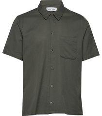 avan jf shirt 11018 overhemd met korte mouwen groen samsøe samsøe
