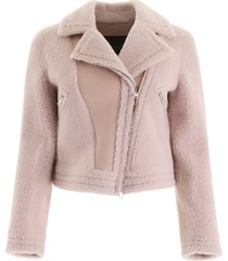 blancha shearling biker jacket