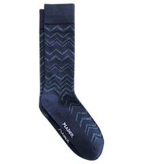 jos. a. bank zigzag stripe mid-calf socks, 1-pair clearance