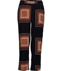 pants w. square dot print casual byxor svart coster copenhagen