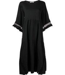 dorothee schumacher crochet-detail mid-length dress - black