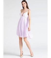sukienka marciano z ozdobnymi aplikacjami