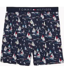 tommy hilfiger men's sails fashion boxer sailboat print on navy - xxl